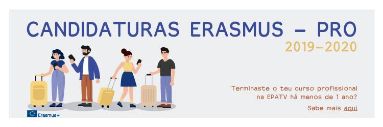 Candidaturas Erasmus - Pro - 2019-2020