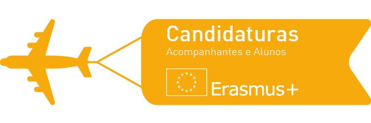 Candidaturas Acompanhantes e Alunos Erasmus+